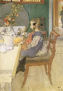 A Late-Riser-s Miserable Breakfast, Carl Larsson