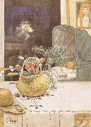 Carl Larsson Gunlog without her Mama oil painting reproduction