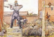 Carl Larsson The Manure Pile oil painting reproduction