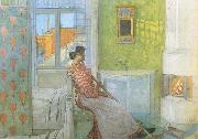 Reading on the Veranda, Carl Larsson