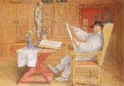 self-portrait in the Studio, Carl Larsson