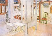 Carl Larsson My Bedroom Watercolor oil painting reproduction