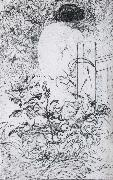 A Rose and a Back Etching, Carl Larsson