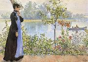 Late Summer Karin by the Shore, Carl Larsson