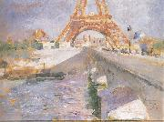 The Eiffel Tower Under Construction, Carl Larsson