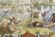 The Crayfish Season Opens, Carl Larsson