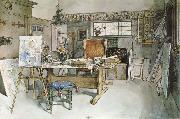 Carl Larsson One Half of the Studio oil painting reproduction