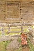A Rattvik Girl  by Wooden Storehous, Carl Larsson