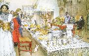 Christmas Eve Banquet, Carl Larsson