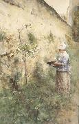 The Old Wall, Carl Larsson