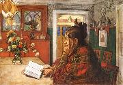 Karin,Reading, Carl Larsson
