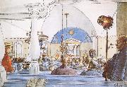 At Church, Carl Larsson