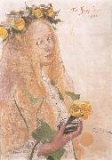 Suzanne,Study for For Karin-s Name-Day, Carl Larsson