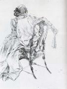 Rococo Model Charcoal