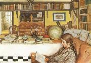 The Reading Room, Carl Larsson