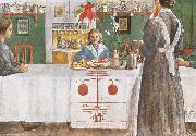 A Friend from the City, Carl Larsson