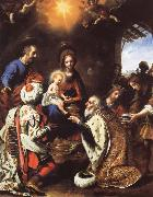 Carlo  Dolci The Adoration of the Kings oil painting reproduction
