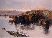 The Buffalo Herd, Charles M Russell