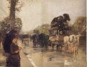 April Showers,Champs Elysees Paris, Childe Hassam