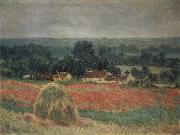Haystavck at Giverny, Claude Monet