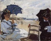 The Beach at Trouville, Claude Monet