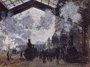 The Gare St Lazare, Claude Monet
