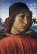 Portrait of a young man in red, Domenico Ghirlandaio