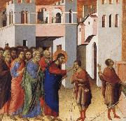Duccio Jesus Opens the Eyes of a Man Born Blind oil painting