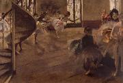 Edgar Degas Balletrepetitie oil painting reproduction