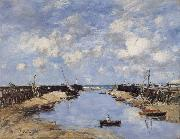 Eugene Boudin The Entrance to Trouville Harbour