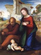 Fra Bartolommeo The Virgin Adoring the Child with Saint Joseph