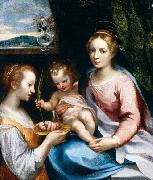 Francesco Vanni Madonna and Child with St Lucy