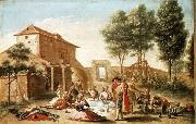 Francisco Bayeu y Subias Lunch on the Field oil painting reproduction
