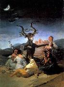 Francisco de goya y Lucientes Witches- Sabbath oil painting reproduction