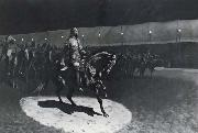 Frederick Remington Buffalo Bill in the Spotlight oil painting reproduction