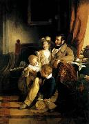 Rudolf von Arthaber with his Children, Friedrich von Amerling