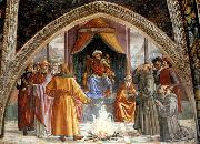 GHIRLANDAIO, Domenico Test of Fire before the Sultan . oil painting