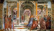 GHIRLANDAIO, Domenico Expulsion of Joachim from the Temple oil painting