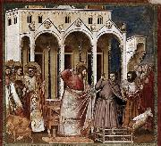 GIOTTO di Bondone Expulsion of the Money-changers from the Temple oil painting reproduction