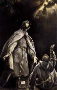GRECO, El St Francis's Vision of the Flaming Torch oil painting