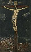 GRECO, El Christ in Agony on the Cross oil painting artist