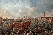 GUARDI, Francesco The Doge on the Bucintoro near the Riva di Sant-Elena oil painting reproduction