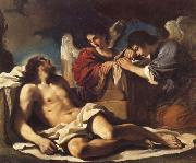 The Dead Christ Mourned by two Angels, GUERCINO