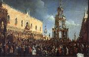 Gabriel Bella Maundy Thursday on the Piazzetta oil painting reproduction