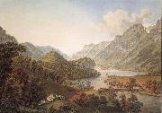 Gabriel Lory Pere Gone out of THE Aar of the Lake of Brienz oil painting reproduction