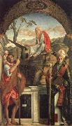 Saints Christopher,Jerome,and Louis, Gentile Bellini