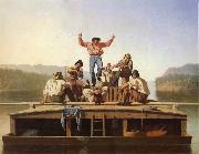 George Caleb Bingham Die frohlichen Bootsleute oil painting artist