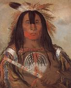 George Catlin Buffalo Bull-s Back Fat Oberhauptling des Blutstammes oil painting picture wholesale