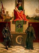 Madonna and Child Enthroned between St Francis and St Liberalis, Giorgione