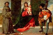 Madonna with the Child, St Anthony of Padua and St Roch, Giorgione
